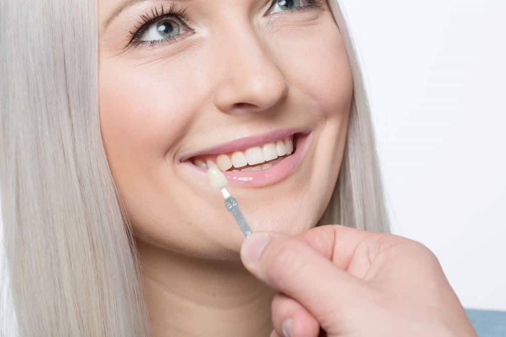 cosmetic treatment at the dentist